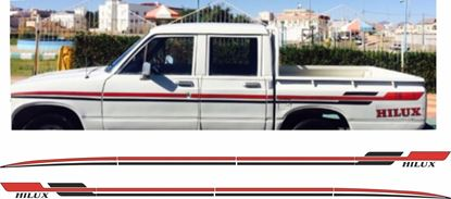 Picture of Toyota Hilux 1981 Double Cab side Stripes  /  Stickers