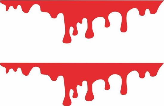 Picture of Blood Drips panel edge Decals /Stickers