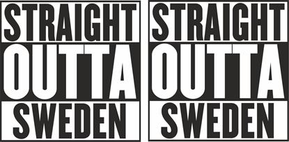 "Picture of Volvo / Scania ""Straight Outta Sweden""panel Decals / Stickers"