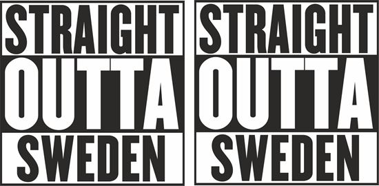 """Picture of Volvo / Scania """"Straight Outta Sweden""""panel Decals / Stickers"""