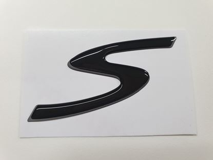 """Picture of Vespa """"S""""  75mm wide Fairing Badge"""