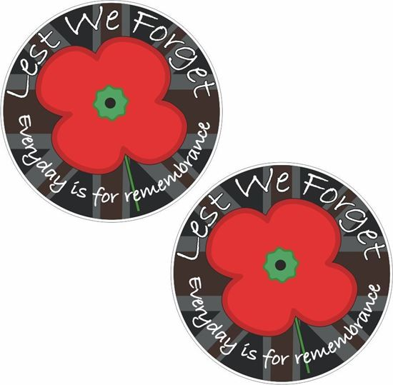 """Picture of """"Lest we Forget"""" Decals / Sticker"""
