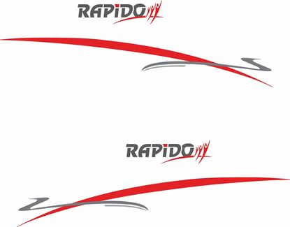"Picture of ""Rapido"" and Stripes General panel  Decals  / Stickers"