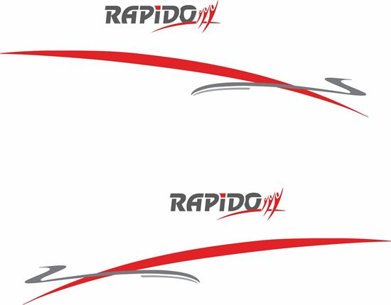 """Picture of """"Rapido"""" and Stripes General panel  Decals  / Stickers"""