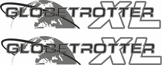 """Picture of Volvo  """"Globetrotter XL"""" panel Decals / Stickers"""