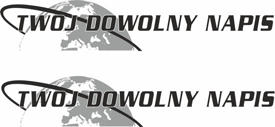 "Picture of Volvo  ""Twoj Dowolny Napis"" panel Decals / Stickers"