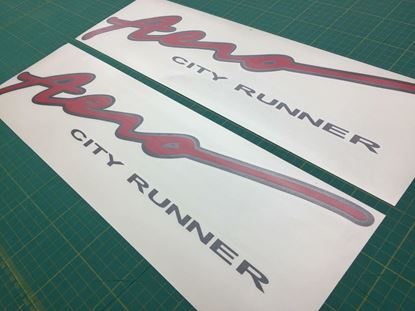 Picture of Mazda Bongo Friendee Aero City runner replacement side Decals / Stickers