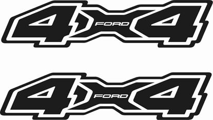 Picture of Ford Custom Design 4x4 Decals / Stickers