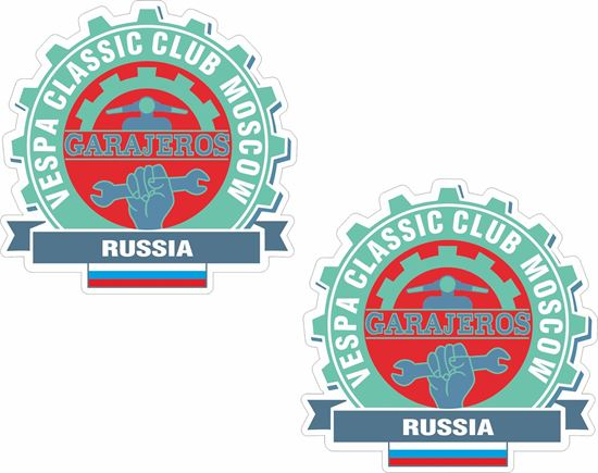 Picture of Vespa Club Moscow Stickers