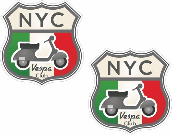 Picture of Vespa Club of NYC Stickers