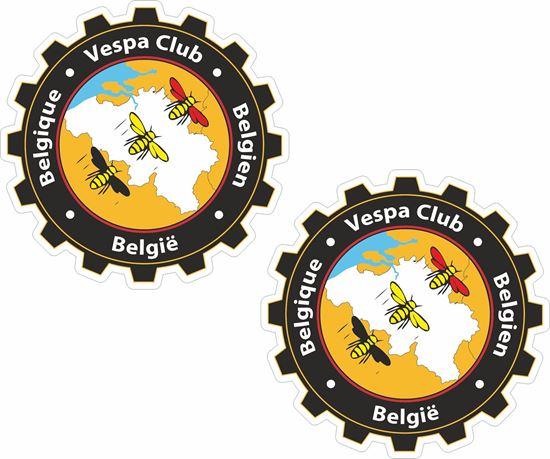 Picture of Vespa Club Belgium Stickers
