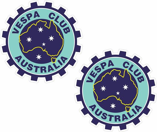 Picture of Vespa Club Australia Stickers