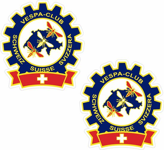 Picture of Vespa Club Switzerland Stickers