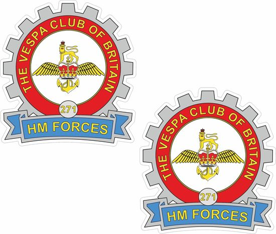 Picture of Vespa Club HM Forces Stickers