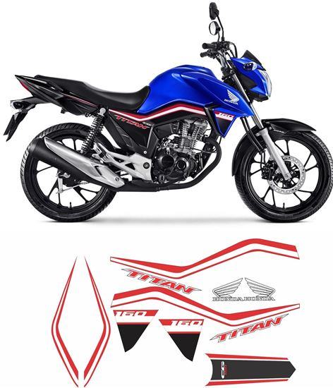 Picture of Honda CG160 Titan replacement Decals / Stickers