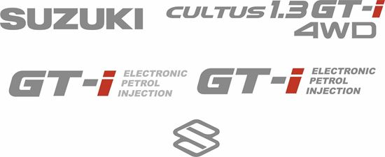 Picture of Suzuki Cultus 1.3 GTi Replacement Decals / Stickers