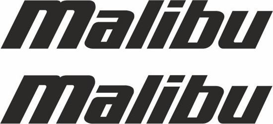 """Picture of """"Mailbu"""" Decals  / Stickers"""