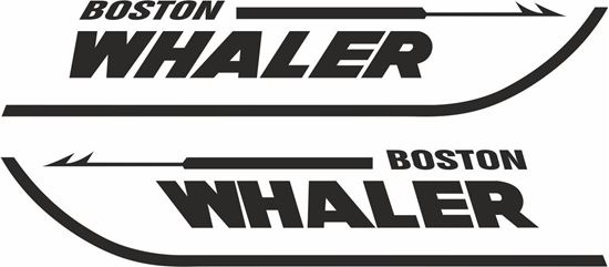 """Picture of """"Boston Whaler"""" Decals  / Stickers"""