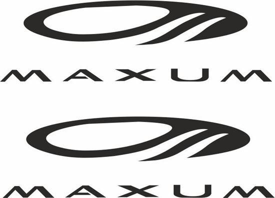 "Picture of ""Maxum"" Decals  / Stickers"