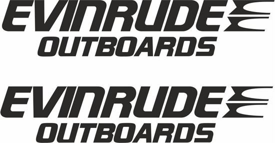 "Picture of ""Evinrude"" Decals  / Stickers"