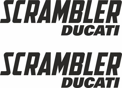 "Picture of ""Scrambler Ducati"" Panel / Tank  Decals / Stickers"
