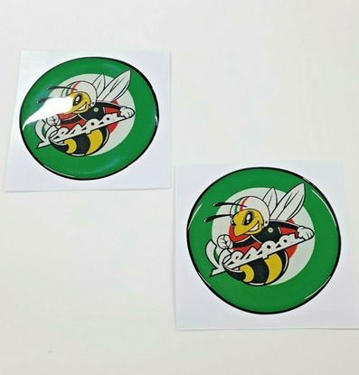 Picture of Vespa Angry Bee 50mm tall Badges