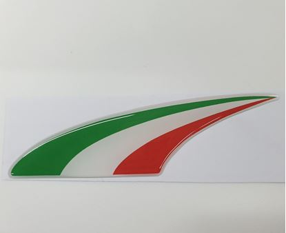 Picture of Italian Swoosh front Fairing 100mm adhesive Badge