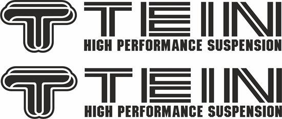 """Picture of """"Tein High Performance Suspension""""  Decals / Stickers"""