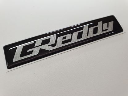 "Picture of Nissan Skyline R33  replacement ""Greddy"" Inlet Manifold relief Badge"