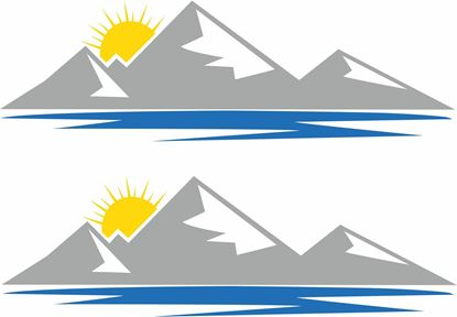 Picture of Sun and Mountain Decals  / Stickers