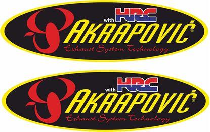 "Picture of Honda ""HRC Akrapovic""  Decals / Stickers"