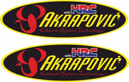 """Picture of Honda """"HRC Akrapovic""""  Decals / Stickers"""