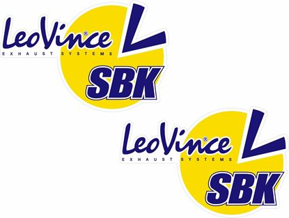 "Picture of ""Leo Vince Exhaust Systems""  Track and street race sponsor Decals / Stickers"