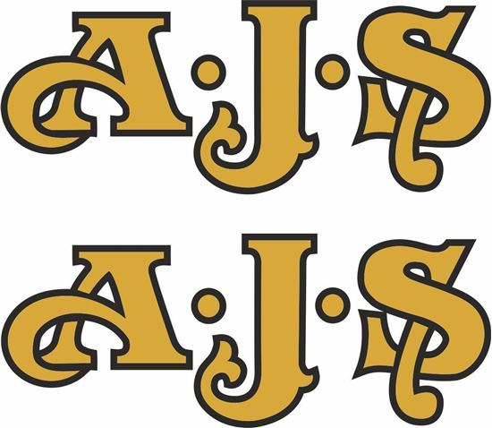 """Picture of """"A.J.S"""" Decals / Stickers"""