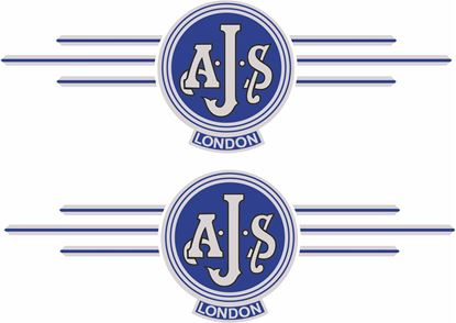 """Picture of """"AJS London"""" Decals / Stickers"""