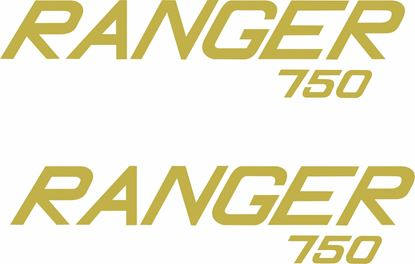 "Picture of Norton ""Ranger 750"" restoration side panel Decals / Stickers"