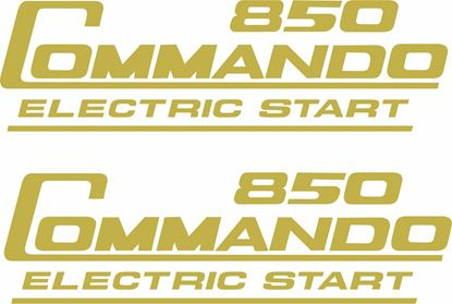 "Picture of Norton ""Commando 850 Electric Start"" replacement panel  Decals / Stickers"