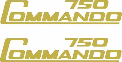 "Picture of Norton ""Commando 750"" replacement panel Decals / Stickers"
