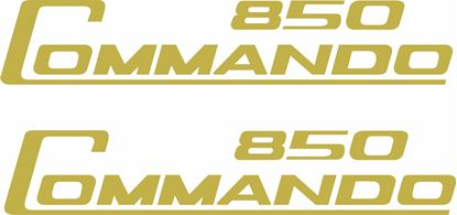 "Picture of Norton ""Commando 850"" replacement panel Decals / Stickers"