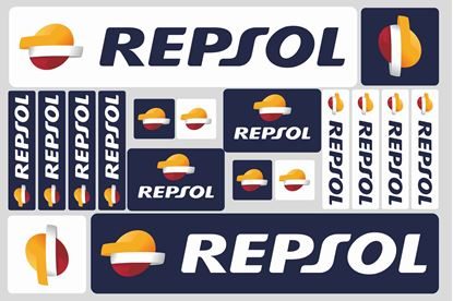 "Picture of ""Repsol"" Track and street race sponsor Sticker Sheet"