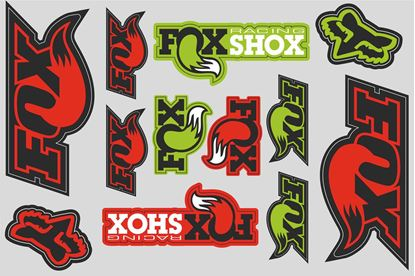 "Picture of ""Fox Racing""  Track and street race sponsor Sticker Sheet"