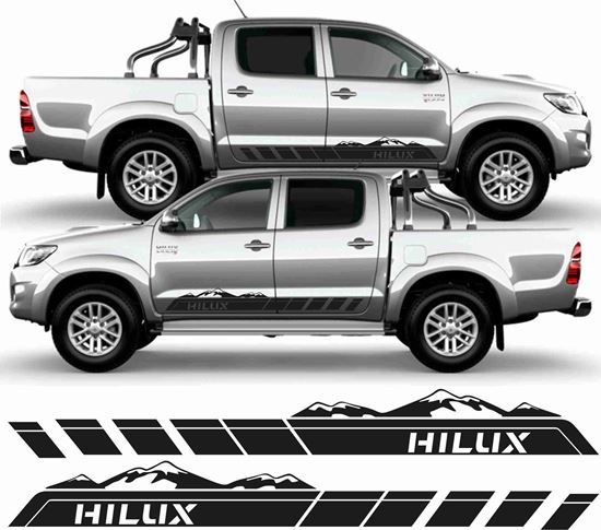 Picture of Toyota Hilux side graphics / Stickers