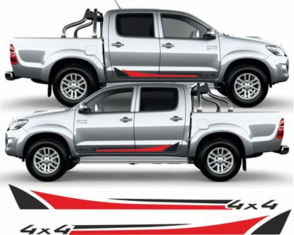 "Picture of Toyota Hilux MK6 / 7 / 8 ""4x4"" side Stripes  / Stickers"