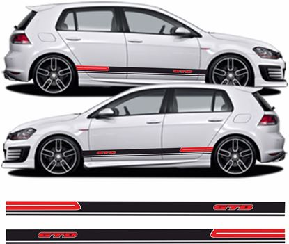 Picture of Golf GTD MK7 side Stripes  / Stickers
