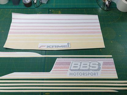 """Picture of MK2 Golf  """"Kamei / BBS""""  Bonnet & side Stripes"""