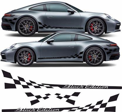 """Picture of Porsche 992 """"Black Edition"""" chequer Stripes / Stickers"""