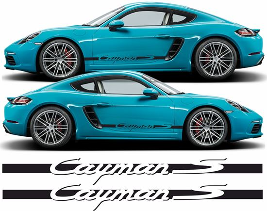 Picture of Porsche 718 Cayman S side Stripes / Stickers