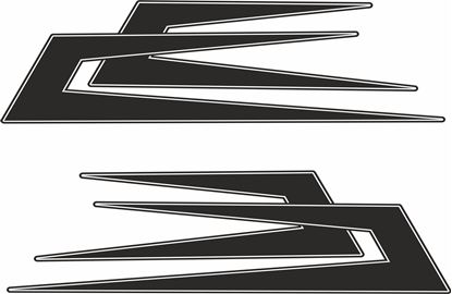 Picture of Swedish Boomerang  top side Decals / Stickers