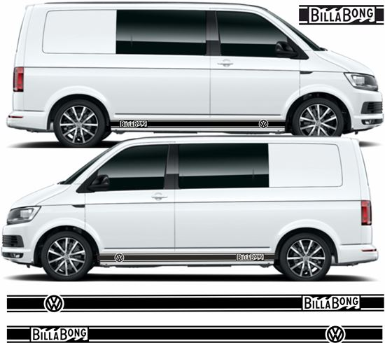 """Picture of VW T5 / T6  """"Billabong"""" Stripes / Stickers"""