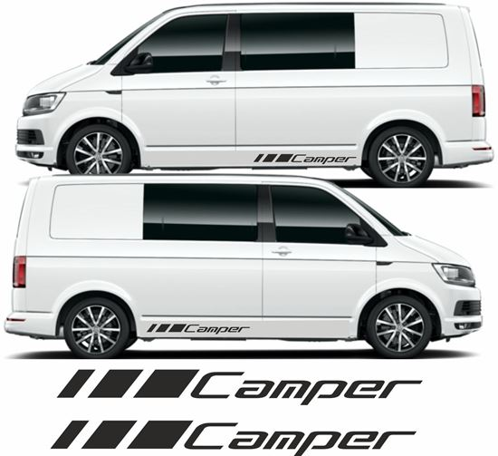 """Picture of VW T5 / T6 """"Camper"""" Decals Stickers"""